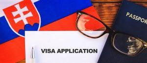 slovakien resa panorama 300x130 - Flag Of Slovakia , Visa Application Form And Passport On Table